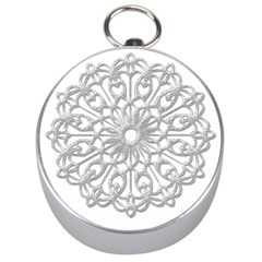 Scrapbook Side Lace Tag Element Silver Compasses by Nexatart