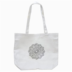 Scrapbook Side Lace Tag Element Tote Bag (white)