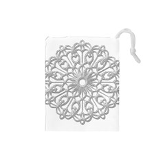 Scrapbook Side Lace Tag Element Drawstring Pouches (small)  by Nexatart
