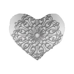 Scrapbook Side Lace Tag Element Standard 16  Premium Flano Heart Shape Cushions by Nexatart