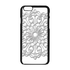 Scrapbook Side Lace Tag Element Apple Iphone 6/6s Black Enamel Case by Nexatart