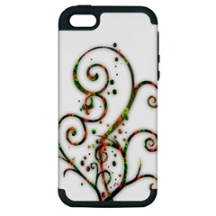 Scroll Magic Fantasy Design Apple Iphone 5 Hardshell Case (pc+silicone) by Nexatart