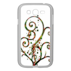 Scroll Magic Fantasy Design Samsung Galaxy Grand Duos I9082 Case (white) by Nexatart