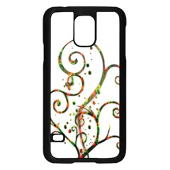 Scroll Magic Fantasy Design Samsung Galaxy S5 Case (black) by Nexatart