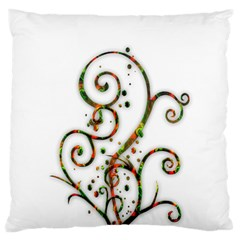 Scroll Magic Fantasy Design Large Flano Cushion Case (one Side)