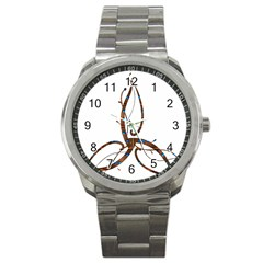 Abstract Shape Stylized Designed Sport Metal Watch