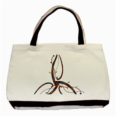 Abstract Shape Stylized Designed Basic Tote Bag by Nexatart