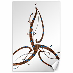 Abstract Shape Stylized Designed Canvas 24  X 36  by Nexatart