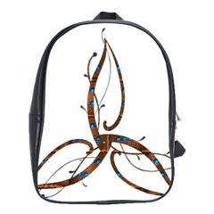 Abstract Shape Stylized Designed School Bags(large)  by Nexatart