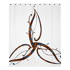 Abstract Shape Stylized Designed Shower Curtain 60  X 72  (medium)  by Nexatart