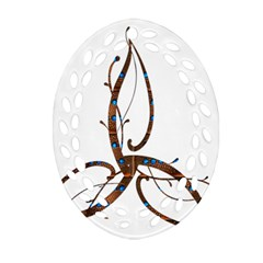 Abstract Shape Stylized Designed Oval Filigree Ornament (two Sides) by Nexatart