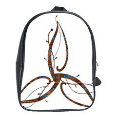 Abstract Shape Stylized Designed School Bags (xl)