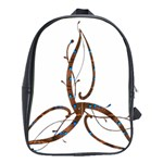 Abstract Shape Stylized Designed School Bags (XL)  Front