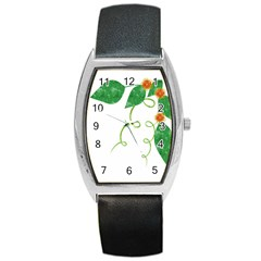 Scrapbook Green Nature Grunge Barrel Style Metal Watch by Nexatart