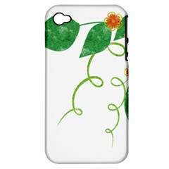 Scrapbook Green Nature Grunge Apple Iphone 4/4s Hardshell Case (pc+silicone) by Nexatart