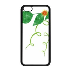 Scrapbook Green Nature Grunge Apple Iphone 5c Seamless Case (black) by Nexatart