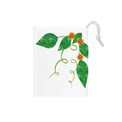 Scrapbook Green Nature Grunge Drawstring Pouches (small)  by Nexatart