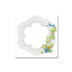 Scrapbook Element Lace Embroidery Square Magnet