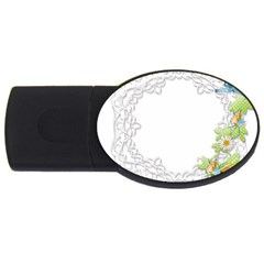 Scrapbook Element Lace Embroidery Usb Flash Drive Oval (2 Gb) by Nexatart