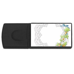 Scrapbook Element Lace Embroidery Usb Flash Drive Rectangular (4 Gb) by Nexatart