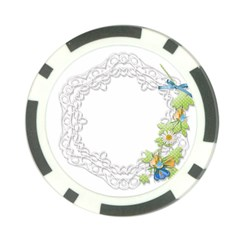 Scrapbook Element Lace Embroidery Poker Chip Card Guard by Nexatart