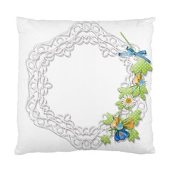 Scrapbook Element Lace Embroidery Standard Cushion Case (one Side) by Nexatart