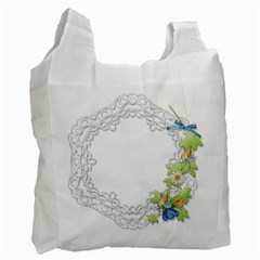 Scrapbook Element Lace Embroidery Recycle Bag (one Side) by Nexatart