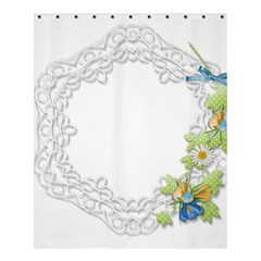 Scrapbook Element Lace Embroidery Shower Curtain 60  X 72  (medium)  by Nexatart