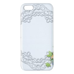 Scrapbook Element Lace Embroidery Apple Iphone 5 Premium Hardshell Case
