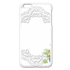 Scrapbook Element Lace Embroidery Apple Iphone 6 Plus/6s Plus Enamel White Case by Nexatart