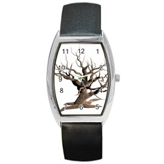 Tree Isolated Dead Plant Weathered Barrel Style Metal Watch by Nexatart