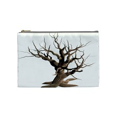 Tree Isolated Dead Plant Weathered Cosmetic Bag (medium)  by Nexatart