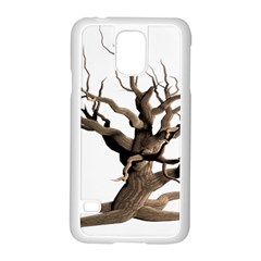 Tree Isolated Dead Plant Weathered Samsung Galaxy S5 Case (white) by Nexatart