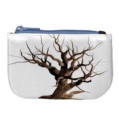 Tree Isolated Dead Plant Weathered Large Coin Purse
