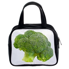 Broccoli Bunch Floret Fresh Food Classic Handbags (2 Sides)