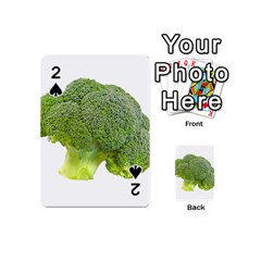 Broccoli Bunch Floret Fresh Food Playing Cards 54 (mini)  by Nexatart