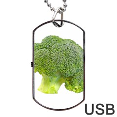 Broccoli Bunch Floret Fresh Food Dog Tag Usb Flash (two Sides)