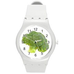 Broccoli Bunch Floret Fresh Food Round Plastic Sport Watch (m) by Nexatart
