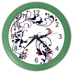 Scroll Border Swirls Abstract Color Wall Clocks