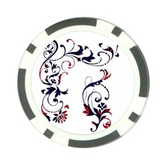 Scroll Border Swirls Abstract Poker Chip Card Guard (10 Pack) by Nexatart