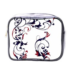 Scroll Border Swirls Abstract Mini Toiletries Bags