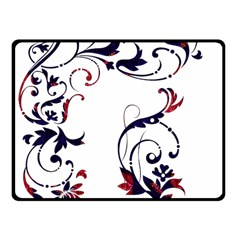 Scroll Border Swirls Abstract Fleece Blanket (small)