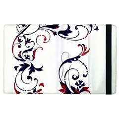Scroll Border Swirls Abstract Apple Ipad 2 Flip Case by Nexatart