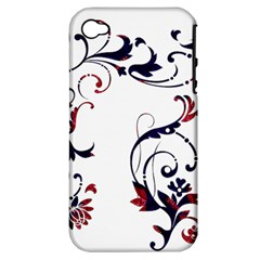 Scroll Border Swirls Abstract Apple Iphone 4/4s Hardshell Case (pc+silicone)