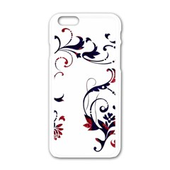 Scroll Border Swirls Abstract Apple Iphone 6/6s White Enamel Case by Nexatart
