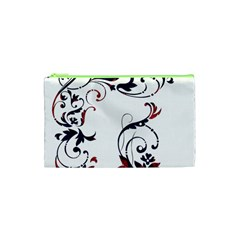 Scroll Border Swirls Abstract Cosmetic Bag (xs) by Nexatart