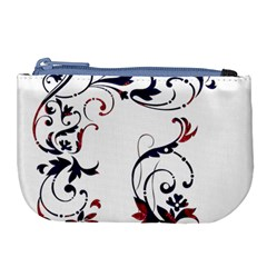 Scroll Border Swirls Abstract Large Coin Purse by Nexatart