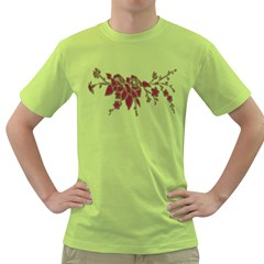 Scrapbook Element Nature Flowers Green T Shirt by Nexatart