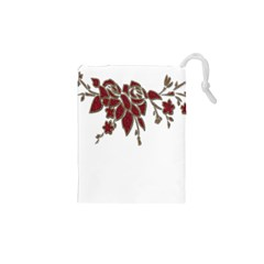 Scrapbook Element Nature Flowers Drawstring Pouches (xs)  by Nexatart