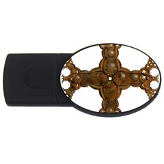 Cross Golden Cross Design 3d Usb Flash Drive Oval (2 Gb) by Nexatart